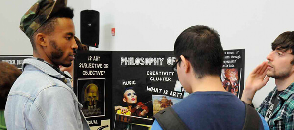 Philosophy: Students attending a philosophy event